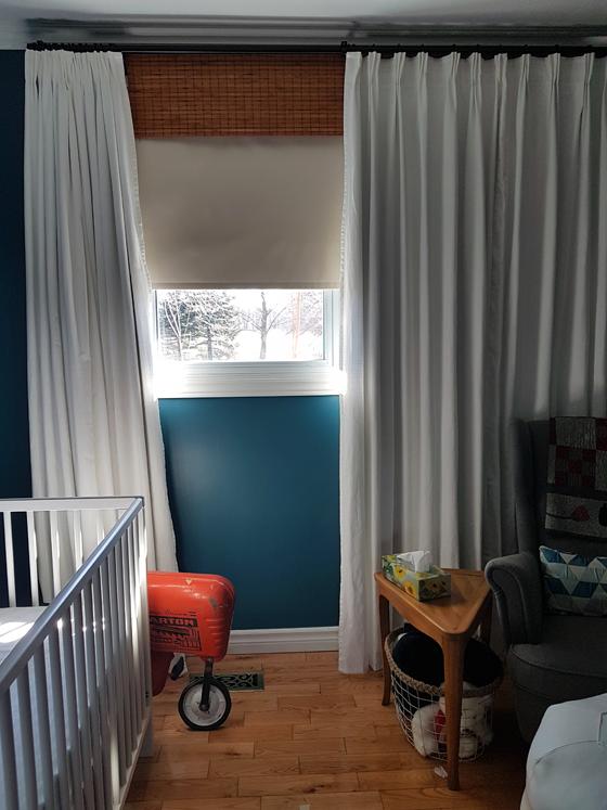 Blackout window treatments in the nursery