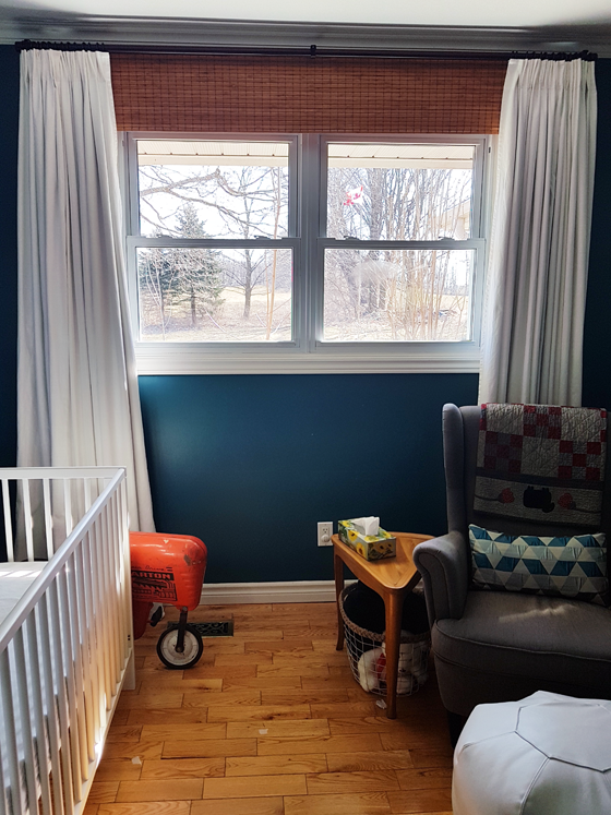 Blackout window treatments in the nursery