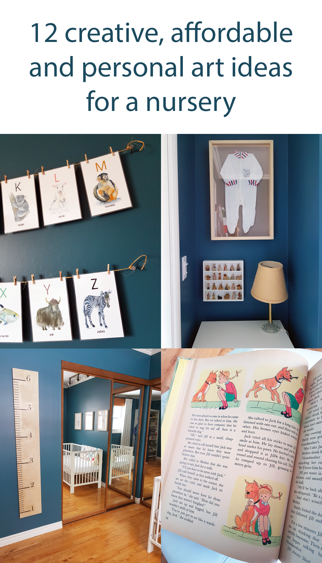 12 creative, affordable, personal ideas for nursery art