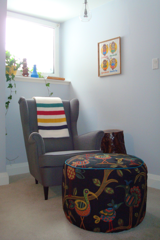 Reading nook with Ikea Strandmon wing chair