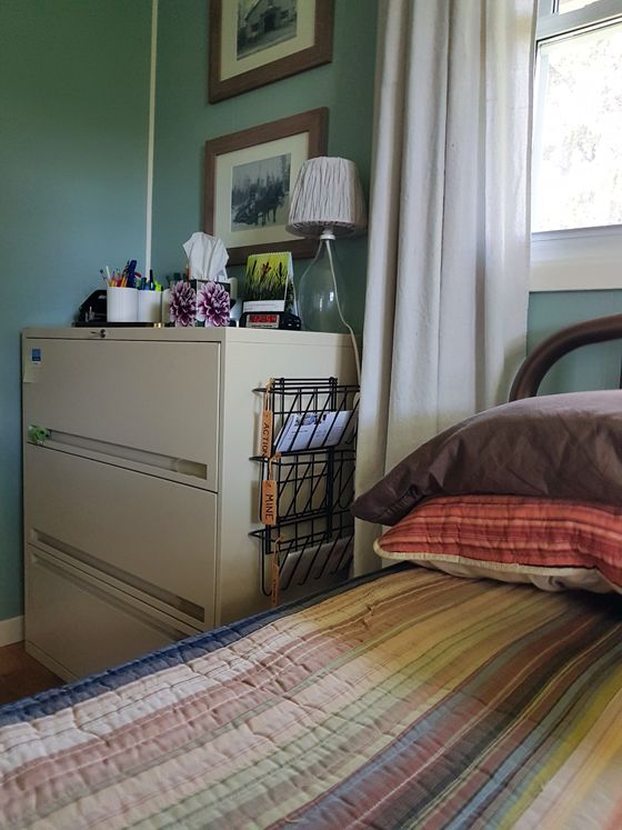Filing cabinet night stand