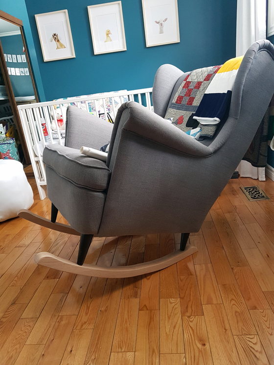 Adding rockers to a wing chair