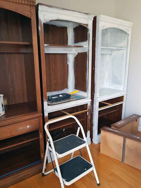 Painting the china cabinet