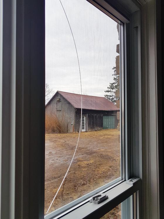 Cracked window pane