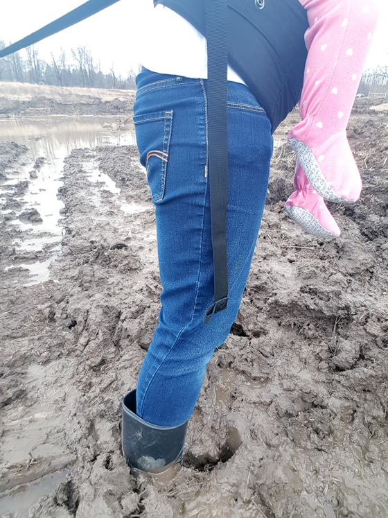 Standing in the mud