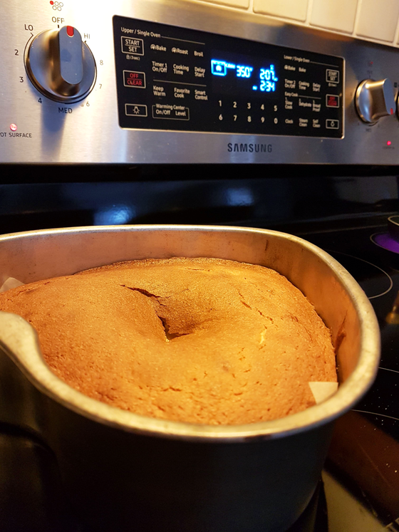 Unevenly cooked cake from Samsung oven