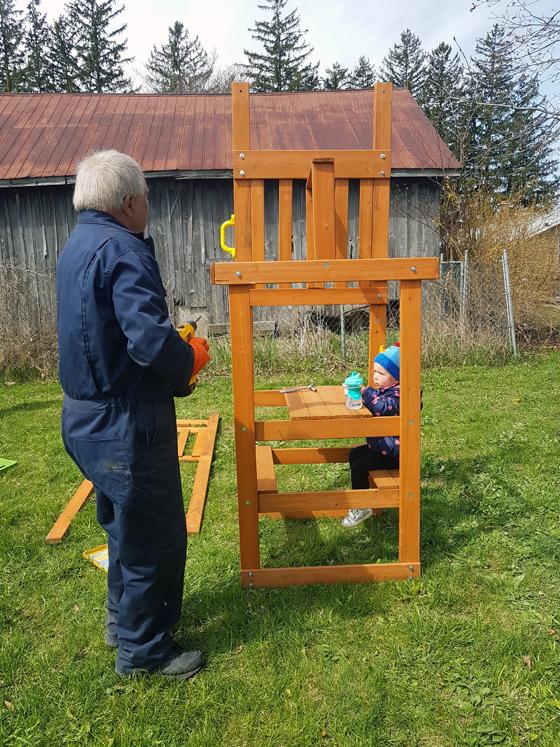 Building a backyard playset