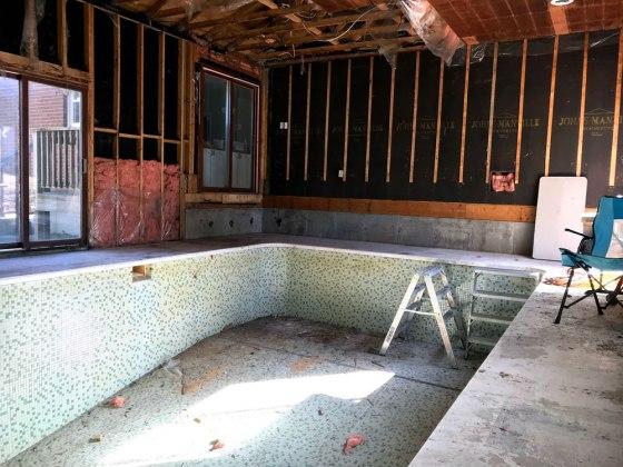 Indoor pool mid demoltion