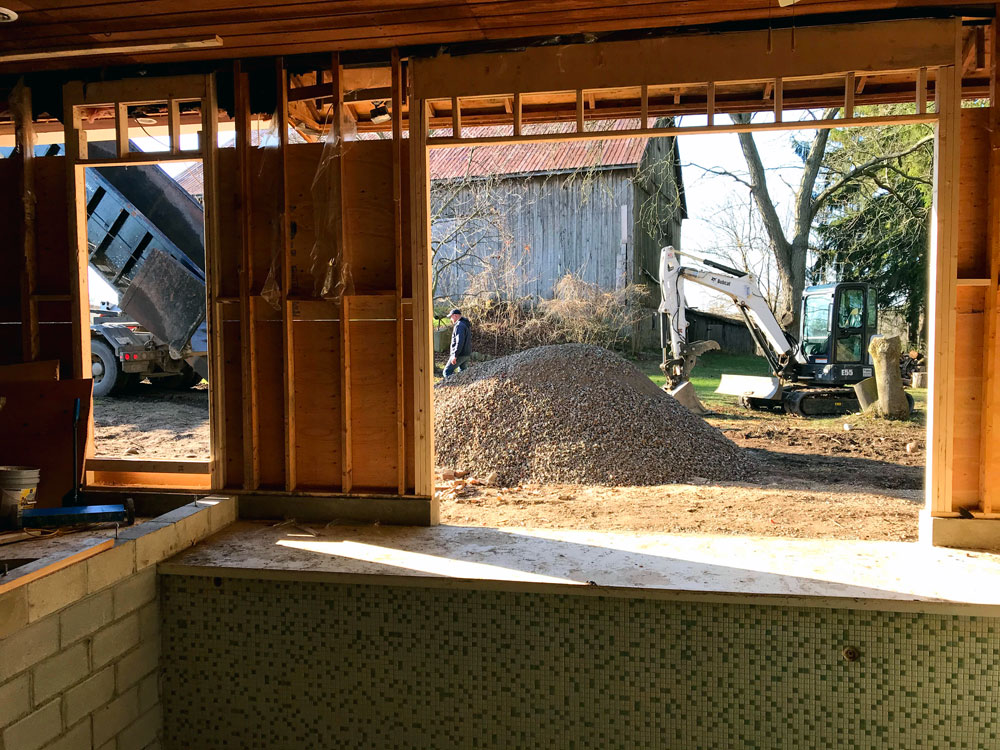 Gravel pile to fill the pool